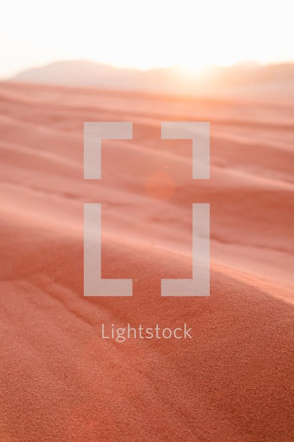 red desert sand