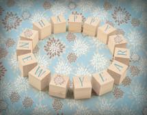 Happy New Year blocks