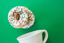 Christmas coffee and donuts