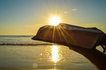 Sunburst over Bible