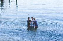 outdoor baptism in water