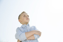 a pouting boy child