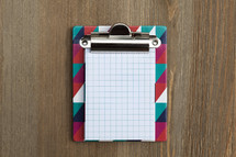 Clipboard with Blank Note Paper