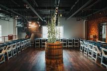 room set up for a wedding reception