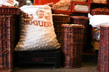 baskets in a market