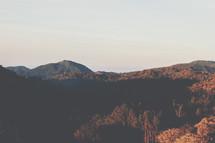 sunlight on mountaintops