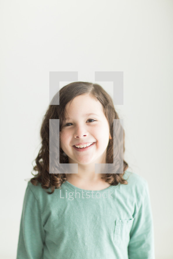 portrait of a smiling child