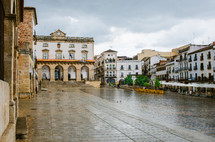 wet courtyard after a rain