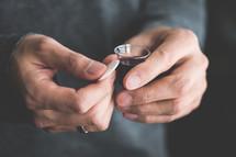a man holding communion elements