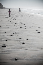 girl child walking on a beach