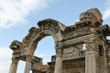 ancient ruins in Ephesus, Turkey