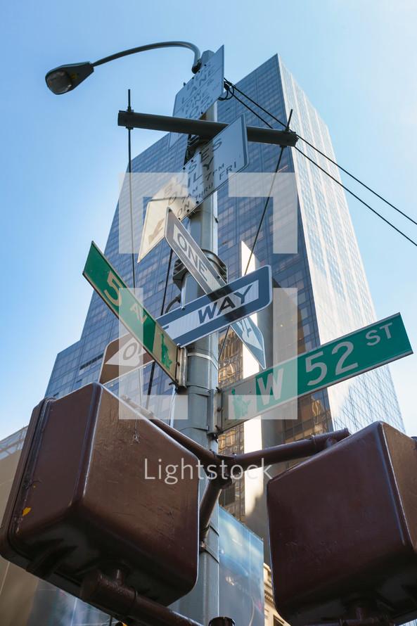 New York City street signs