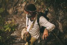 a man backpacking in Peru
