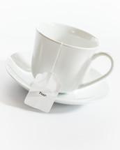 tea cup with the words fear on the tea bag