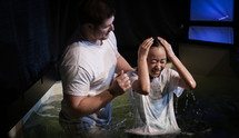 child being baptized