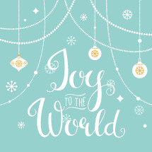Joy to the World. Hand Lettering Christmas Sign