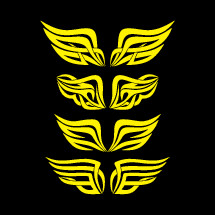 abstract wings in yellow
