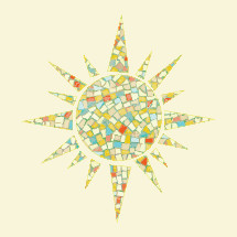 mosaic tile sun icon