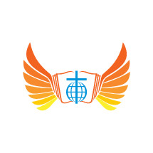 logo, wings, cross, yellow, Bible, icon, blue, globe, missions
