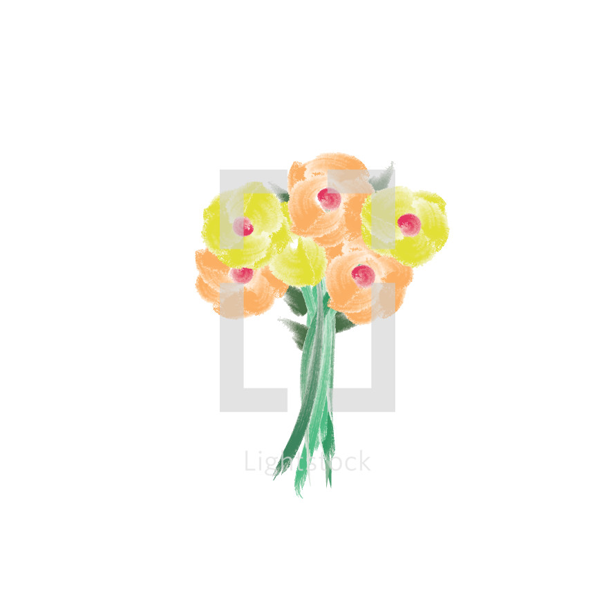 Flower Bouquet Vector By Prixel Creative Lightstock