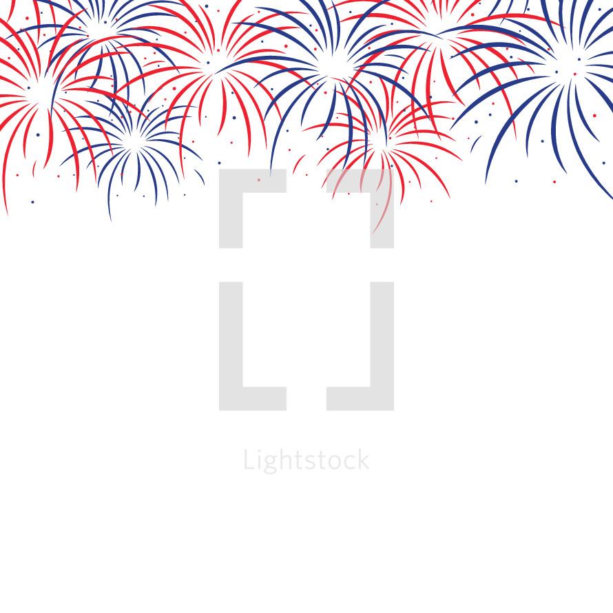 fireworks border � vector � lightstock