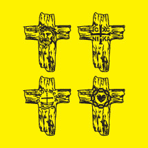wood cross icons