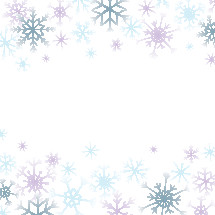 colorful snowflake border background.