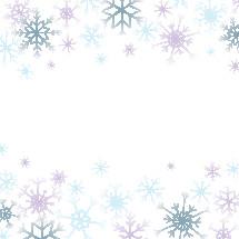 colorful snowflake border background.