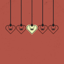 heart shaped hanging lights.
