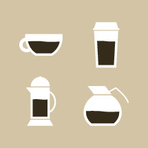 coffee, cup, mug, coffee pot, creamer, icon