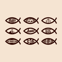 Jesus fish icon