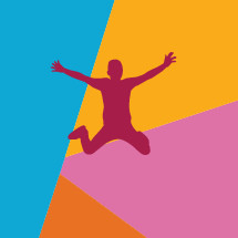 colorful illustration of kid jumping