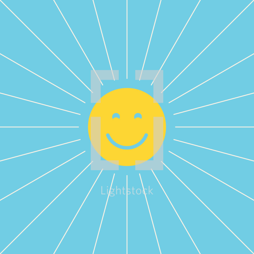 happy sun illustration.