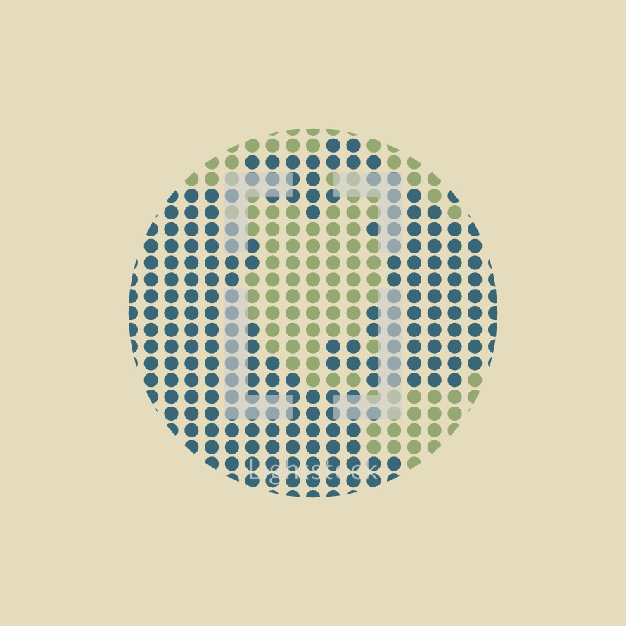 abstract illustration of globe made of dots.