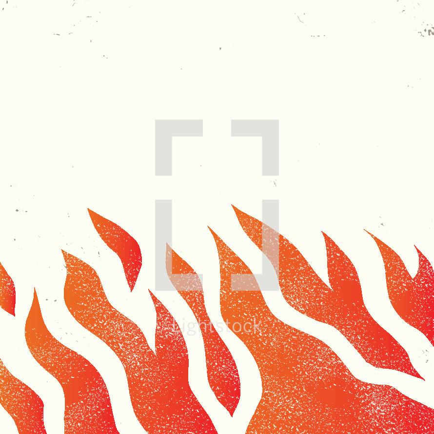 burning flames illustration.