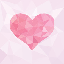 A pink heart poly background for Mother's Day, Valentine's or to celebrate love.