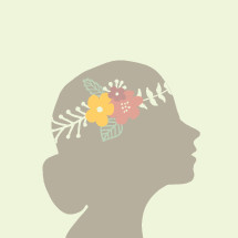 crown of flowers in a woman's head