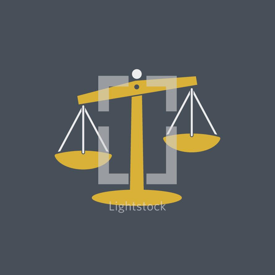 judgement scale illustration.