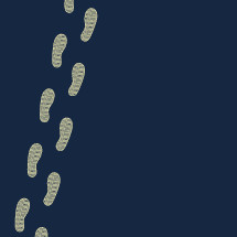 footprints illustration.