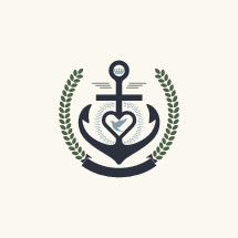 anchor, dove, leaves, banner, crown, radiating, icon