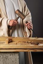 carpenter hands of Jesus