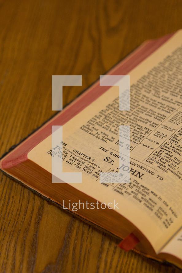 open Bible St. John