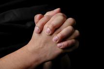 Prayer hands.