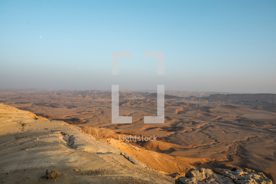 The Ramon crater is  the biggest crater in Israel. it is a part of the Paran desert which is one of the places  where the people of Israel go through in the Exodus.