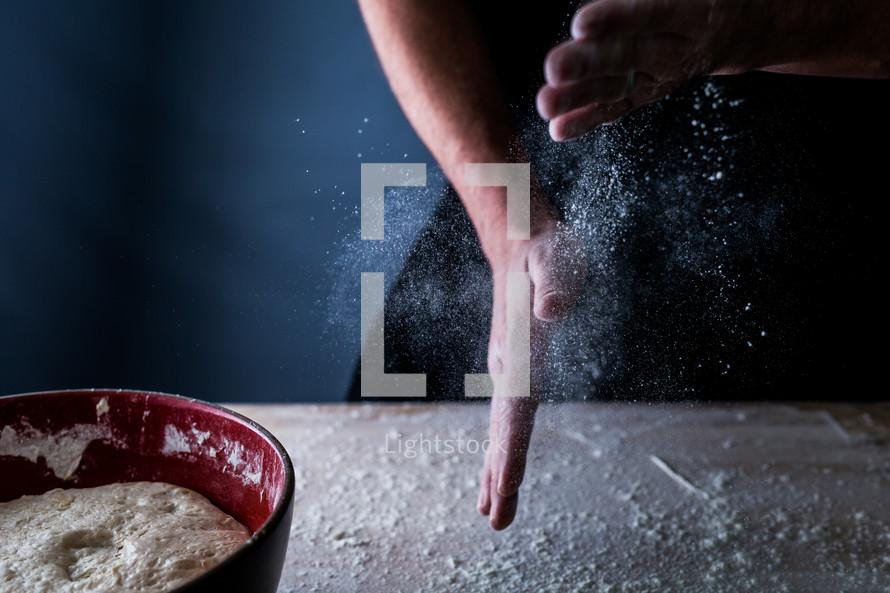 baking with flour