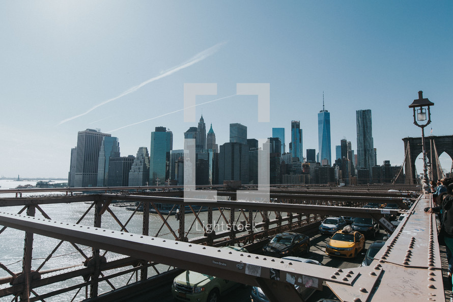 bridge and NYC skyline
