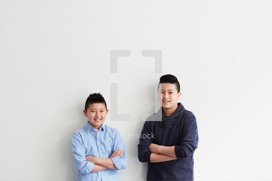 brothers in studio