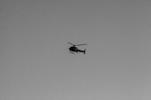 helicopter in the sky