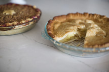 pies in a kitchen