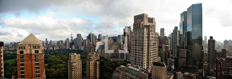 buildings in a city scape scene